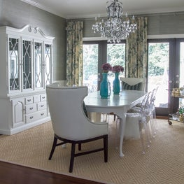 Eclectic glam dining space