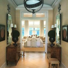Regency House, Vestibule to Living Room.