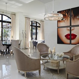 Palm Beach Urban Glamour Great Room - Annie Santulli Interior Design