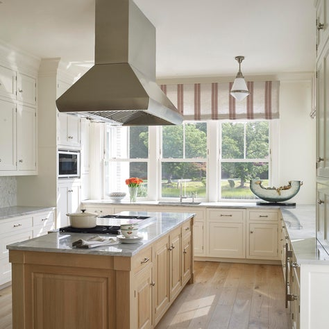 Greenwich townhouse, modern kitchen with a spacious work island