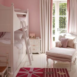 London townhouse children's pink bunk bedroom