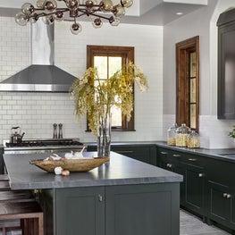 modern rustic green kitchen aspen