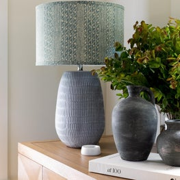 Madison Valley- Vintage lamp with a custom shade is the perfect finishing touch.
