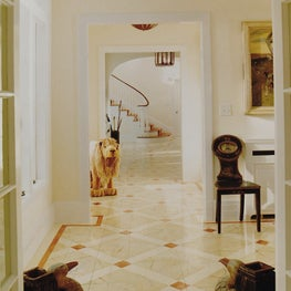 Entry Hall with Painted Floors