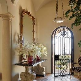 Entry with Antique Limestone Floor
