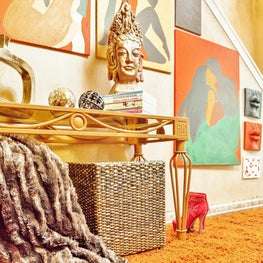 Soulful Foyer with Artwork