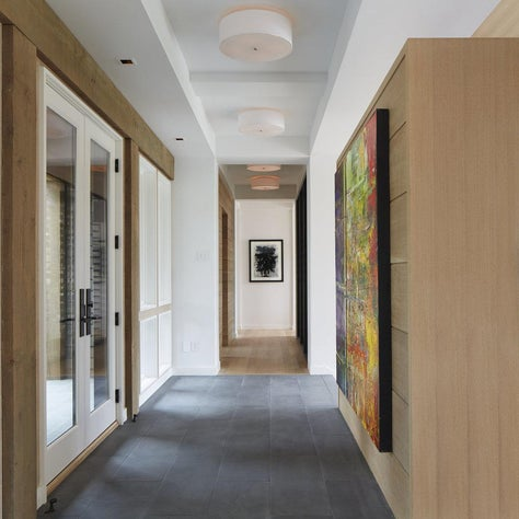 Minnetonka Modern entryway with art wall