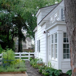 Historic Colonial Revival Home: Rear Garden Path