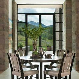 Aspen Dining with Floor to Ceiling Windows
