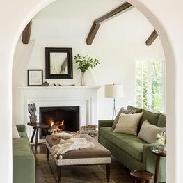 Hillsborough Mediterranean Living Room