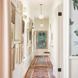 Gallery Wall and Art Filled Hallway