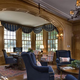 Traditional Custom Home Office by Diane Burgoyne Interiors