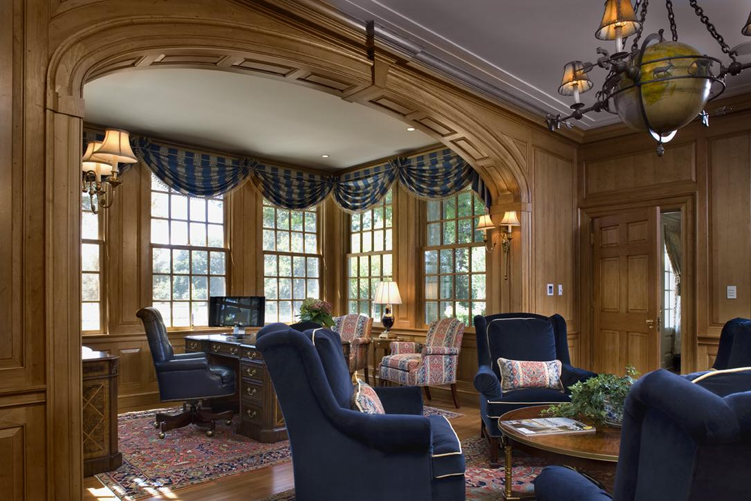 Traditional Custom Home Office by Diane Burgoyne Interiors