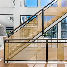 Steel and Mesh Staircase