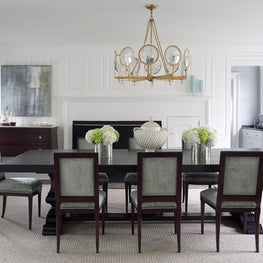 Transitional Dining Room in Southport, Connecticut