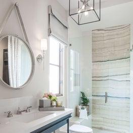 Elegant Bathroom with texture