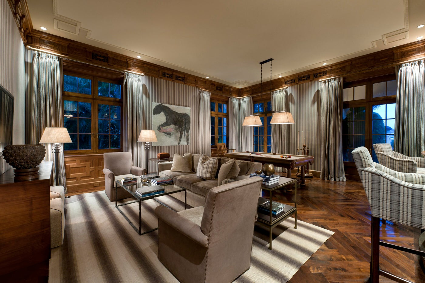 Interior Architecture of Miami Indian Creek Home featured in Architectural Digest