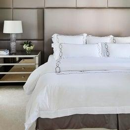 Principal Bedroom with Fabric Panel Wall