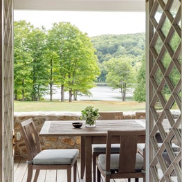 Lake View Country Estate Covered Porch