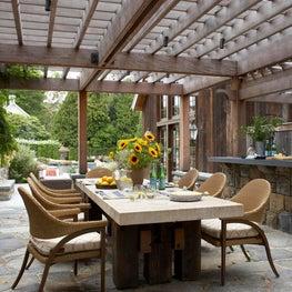 Modern/Rustic Barn Outdoor Dining Area