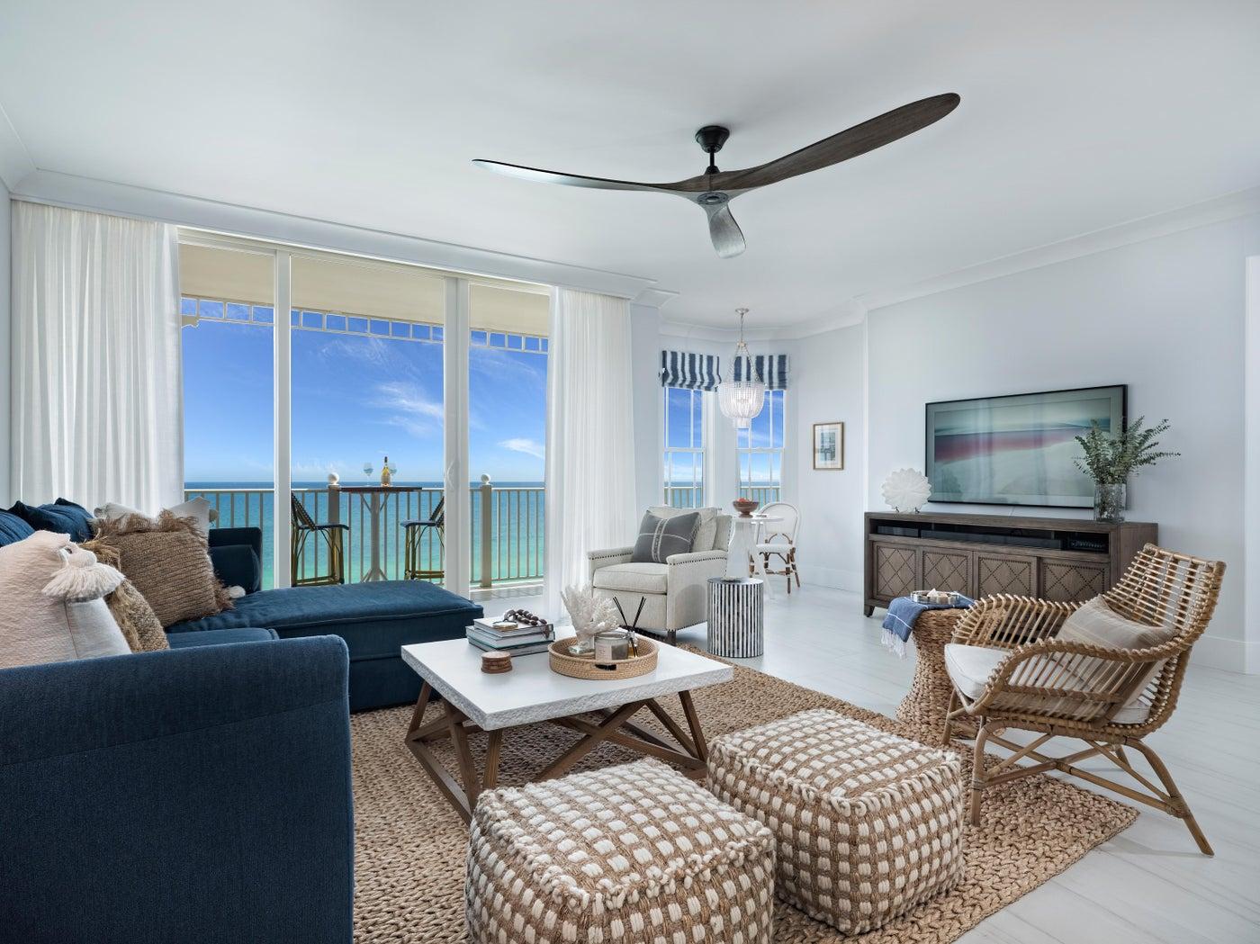 Jupiter Ocean Grande - Condo Renovation: Living Room with Views