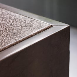 Luxe Calf Leather Detail on Lobby Desk