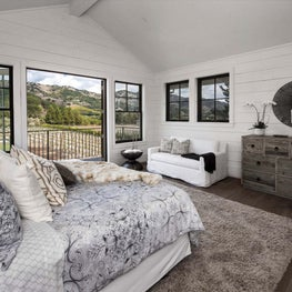 Yountville Farmhouse, Master Bedroom
