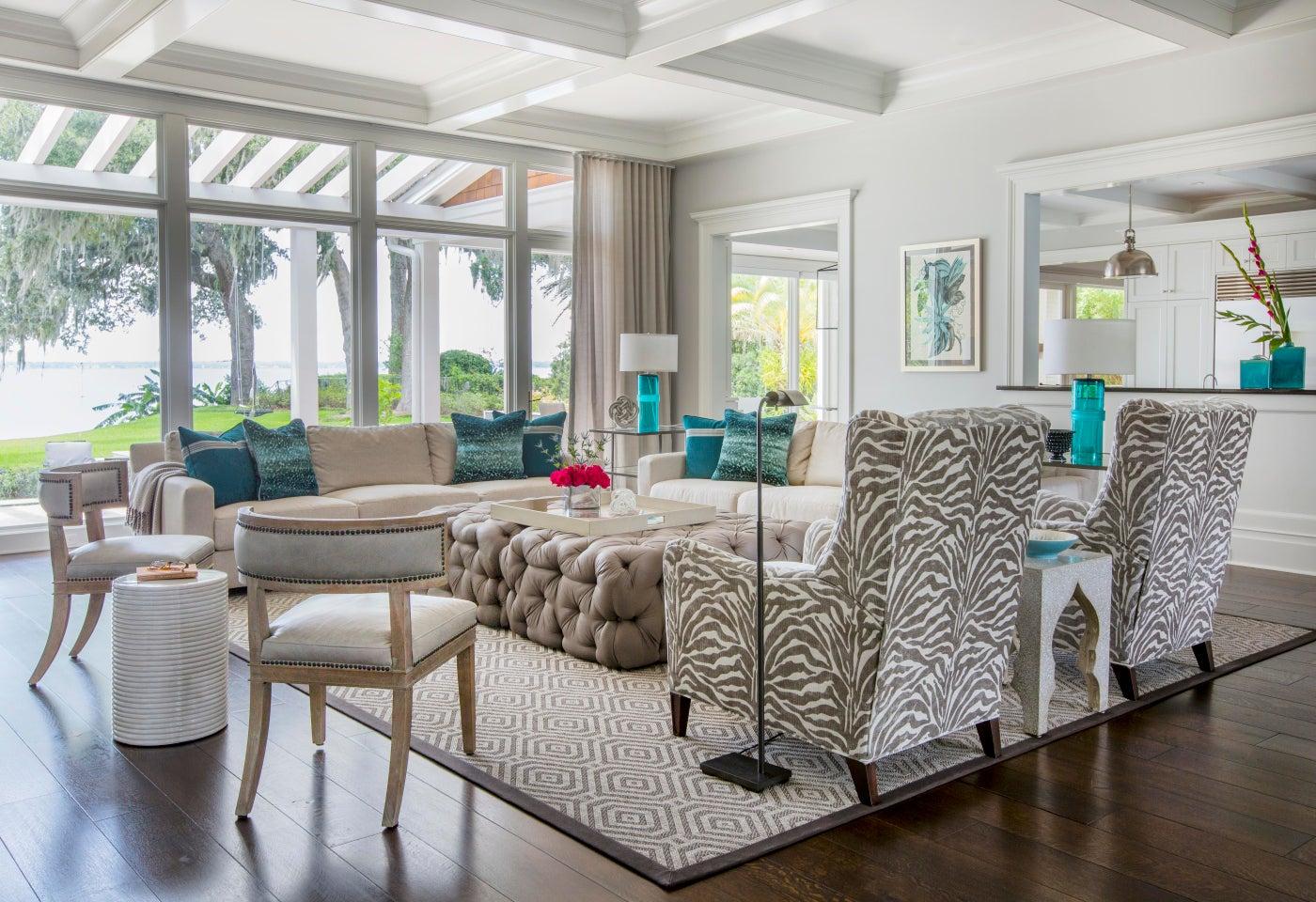 Family Residence, Jacksonville, Fl. Living Room.