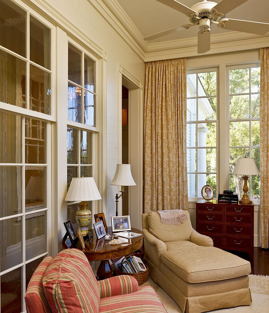Greek Revival Sunroom/ Master Bedroom Sitting Room.