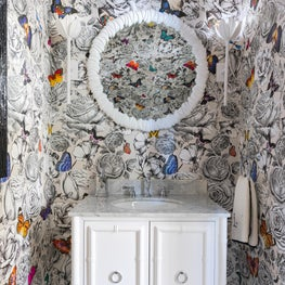 Osborne and Little Wallpapered Powder Room