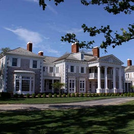 Fairfax & Sammons: A new estate in the Hamptons, neoclassical  shingled house and outbuildings on Gin Lane.