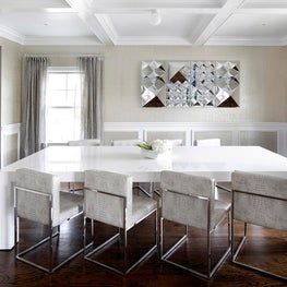 Modern dining room with seating