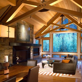 Independence Retreat Living and Great Room by Charles Cunniffe Architects