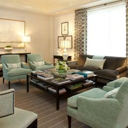 Formal aqua living room