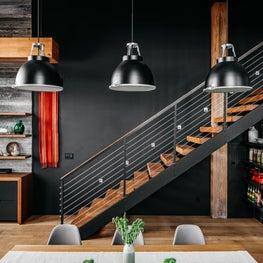 Custom White Oak Dining Table in Modern Loft