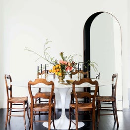 Minimal Dining Room Mixing Vintage and Modern Styles