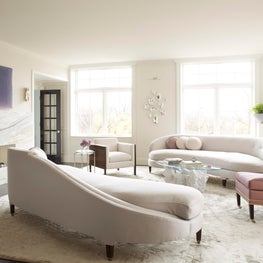 Living Room - Long sight lines established to capitalize on expansive views.
