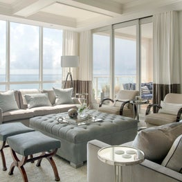 Tailored Living Room with Ocean Views