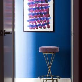 Bold Blue + Magenta Modern Wall Art