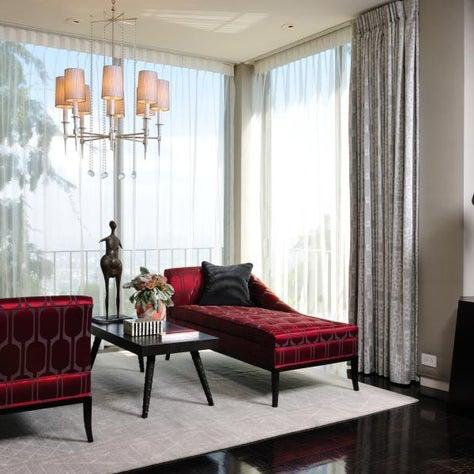 Trousdale Estates Master Bedroom Sitting Area