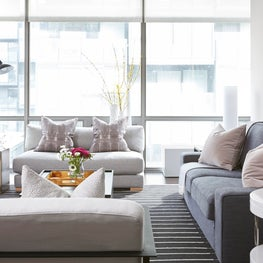 Contemporary Living Room at Thompson Toronto Hotel & Residence