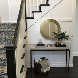 Updated Black and White Foyer