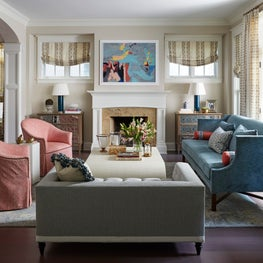 Bright and cheery living room.