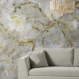 'Rites of Spring' wall mural  Anthropologie Home Collection.