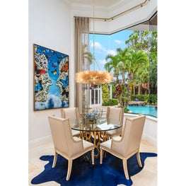 Palm Beach Tropical Paradise Glamor Eat-in Kitchen
