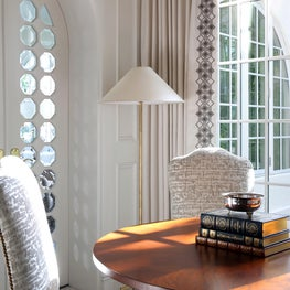 Details from this Formal Living Room with Striking Architectural Details