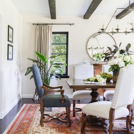 Transitional California Spanish Revival Dining Room