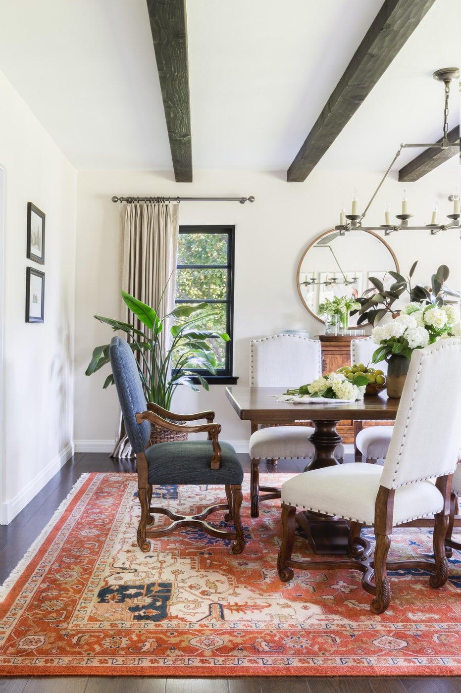 Transitional California Spanish Revival Dining Room