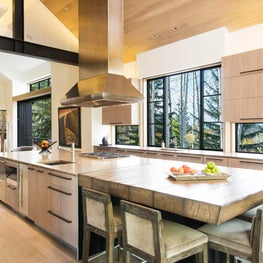 Snowmass Village, Aspen Two Creeks Remodel- Kitchen to Great Room, window backsplash
