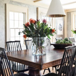 Large Dining Room Table in a Coastal Antique Home